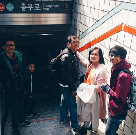 Our main mode of transportation in touring the city, Seoul Subway. Chungmuro station was just 2 blocks away from our home