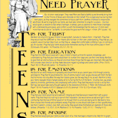Pray for Your Teen!