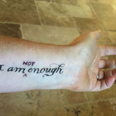 I am NOT enough — and why it's liberating to admit it