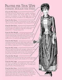 Pray for Your Wife from Head to Toe | Free Printable Prayer Guide from Loving Life at Home