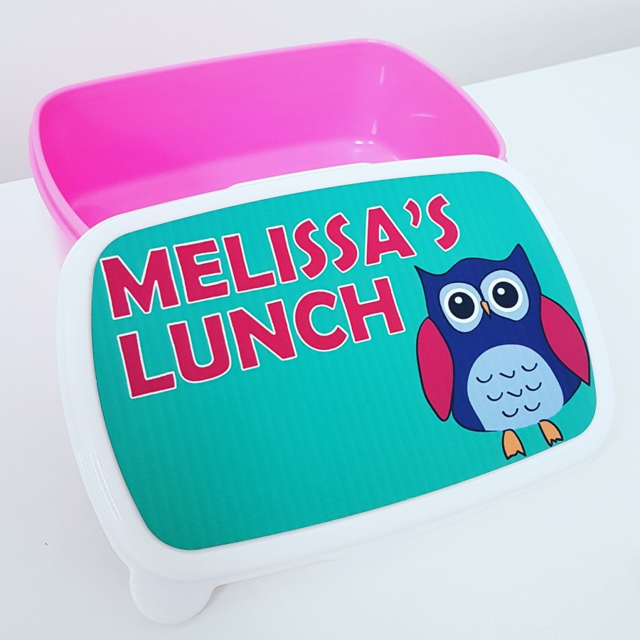 Owl Lunch Box Pink