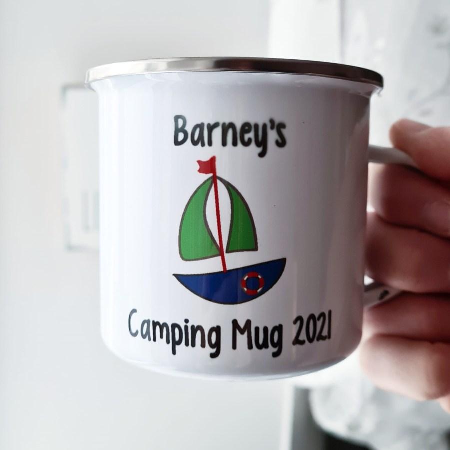 Camping Mug with Boat