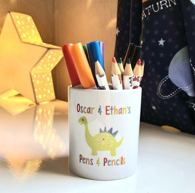 Personalised pencil pot