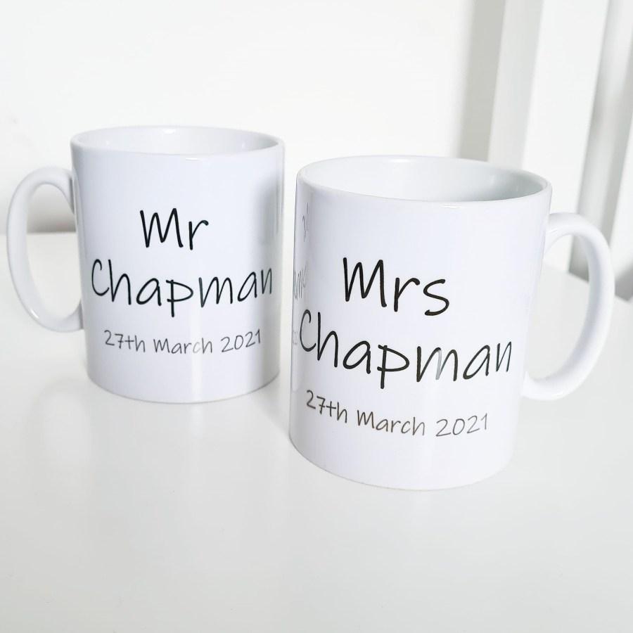 Wedding Date Mugs