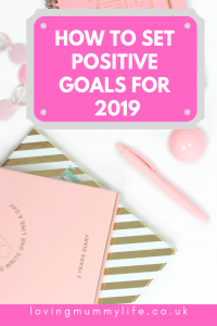 Set positive goals for 2019
