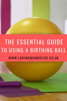 Using a birthing ball in labour