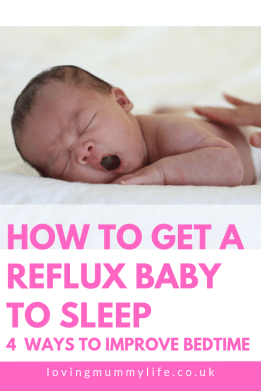 get a reflux baby to sleep