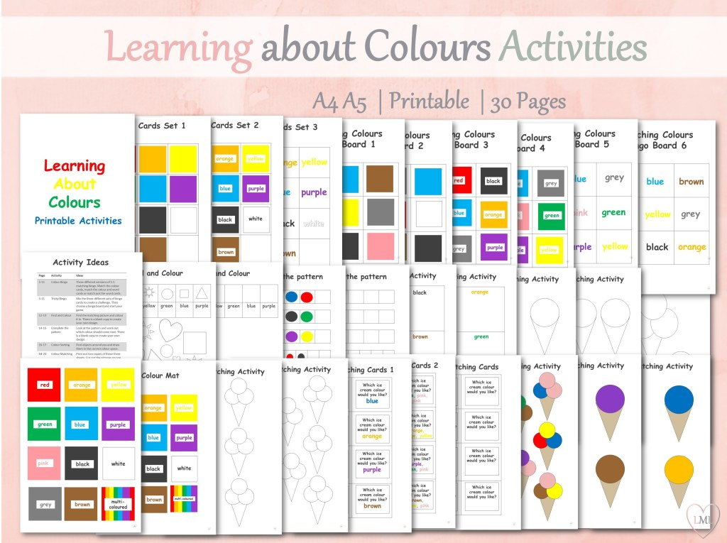 Learning Colours Activity