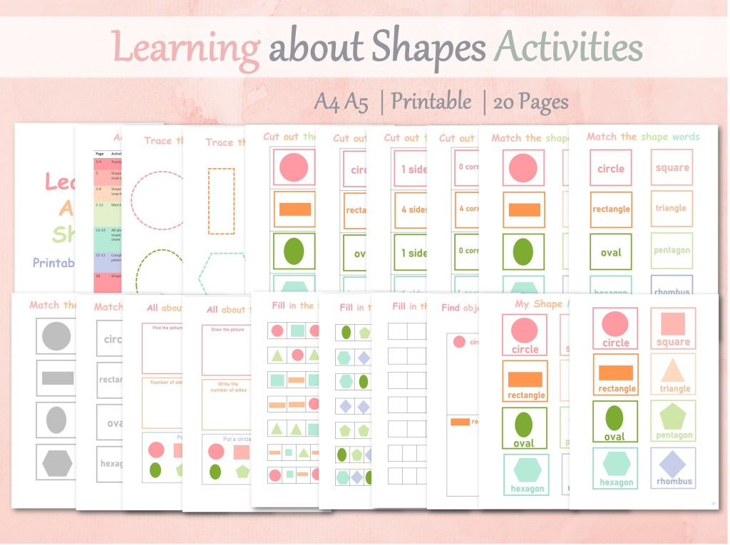 learning shapes activities