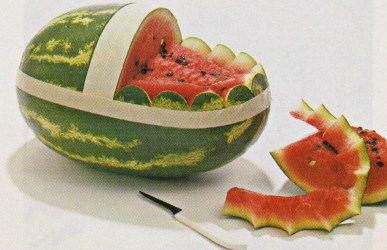 watermelon basket carve carving wow them easy boat cut waterm handle