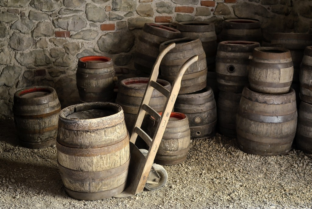 Extremadura barrels of wine