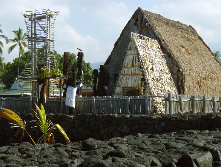 Ahu'ena Heiau Surrounded by its Ancient Stone Walls. Kailua Kona, Hawaii: Photo by Donnie MacgGawn