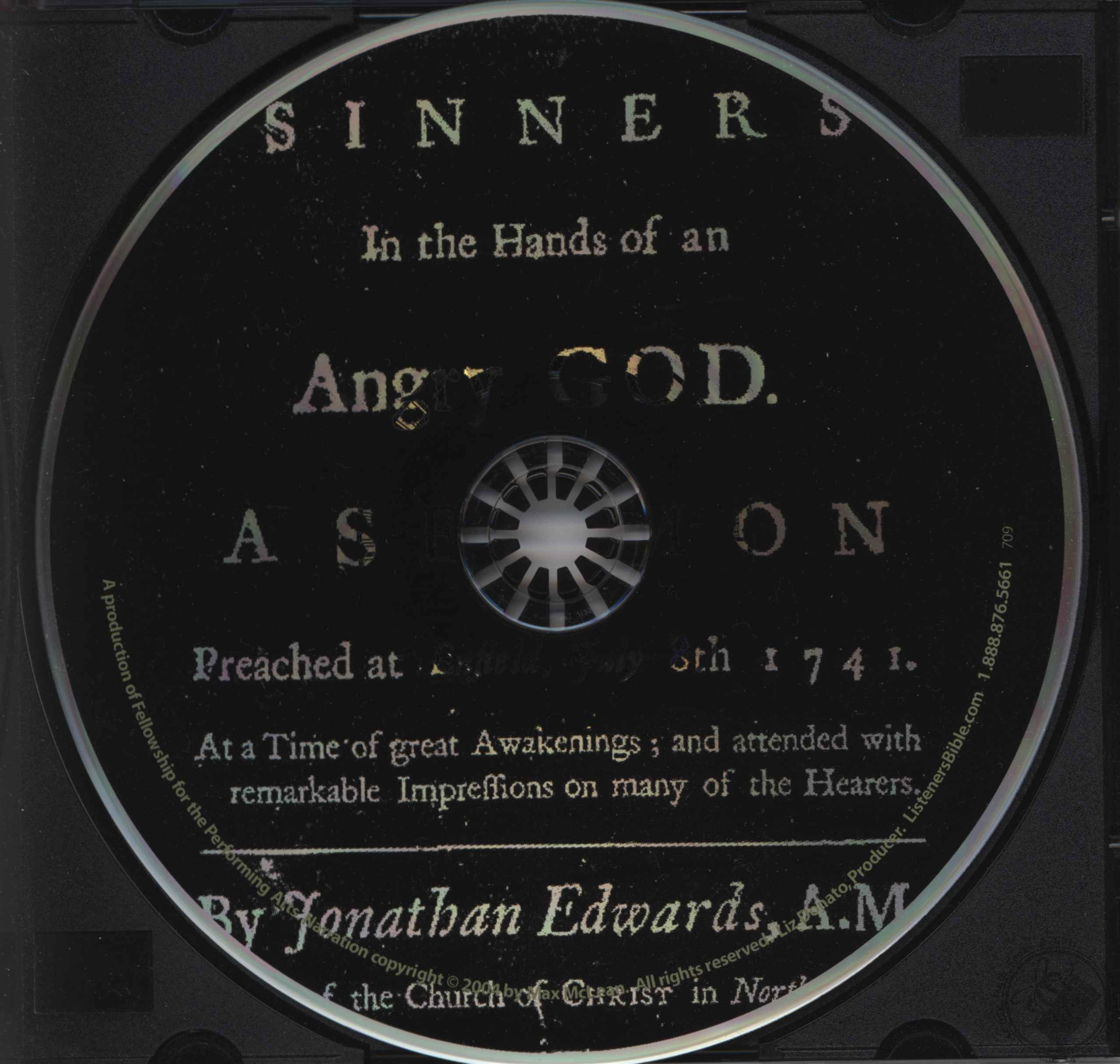 Sinners In The Hands Of An Angry God Audiobook By Jonathan