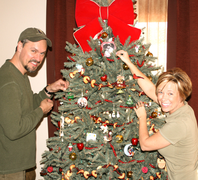 Putting on the last ornament!!!