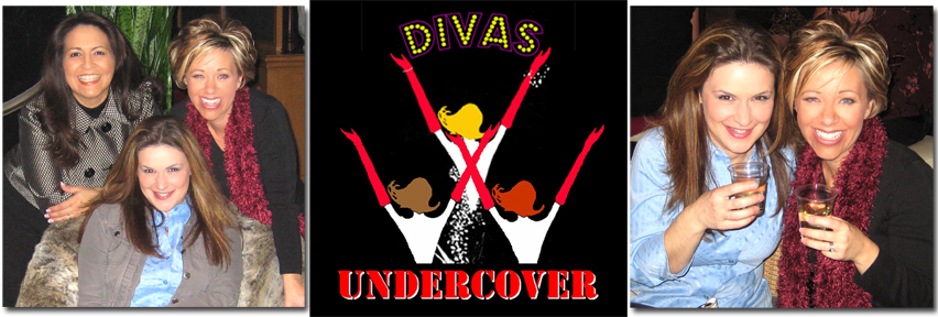 Emily Thrasher, Gret Menzies, Lisa Smith; 2) DIVAS Poster; 3) Champagne at Mandalay Bay AFTER gig