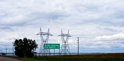 twin power poles - electrifying sight