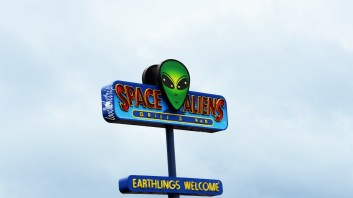 the aliens have landed, and they brought pizza