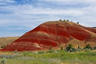 Painted Hills in central Oregon - part of the John Day Fossil Beds National Monument area