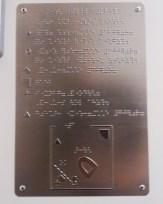 Braille bathroom map