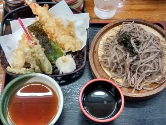Late night tempura & soba dinner