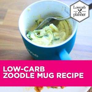If you love Zoodles, you will love this easy Mug recipe. It is super delicious and low in carbs. A perfect mug meal for work.