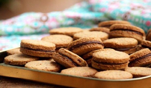 Receita de Biscoito Recheado com Nutella Low Carb