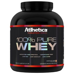 100% Pure Whey Protein Evolution Series Low Carb - 2000g Morango - Atlhetica