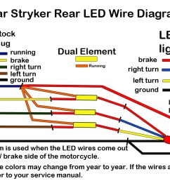 stryker led brake light and license plate kit low and mean rh lowandmean com honda vtx vtx 1300 brake light wiring diagram  [ 1280 x 800 Pixel ]