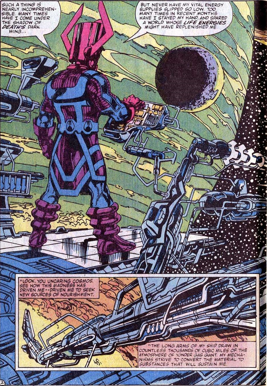 Galactus has a conversation with Death