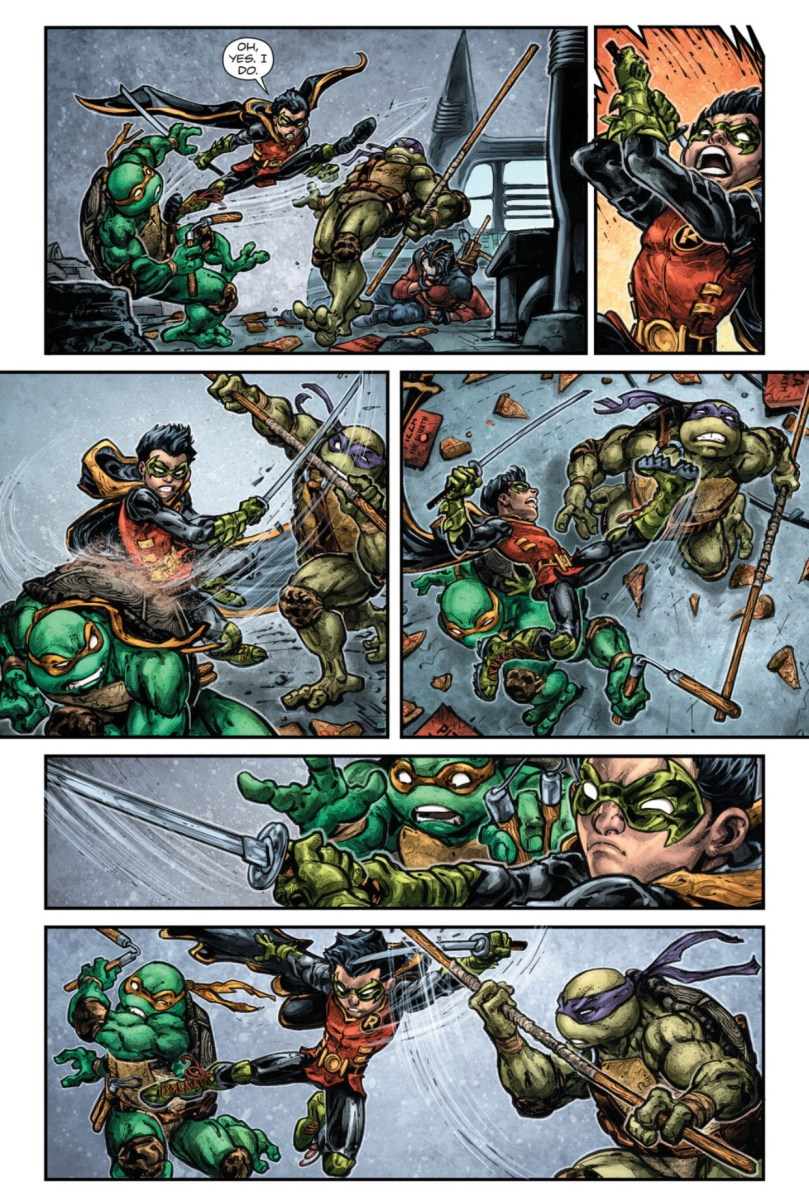 Damian Wayne vs Donatello Michaelangelo  Casey Jones