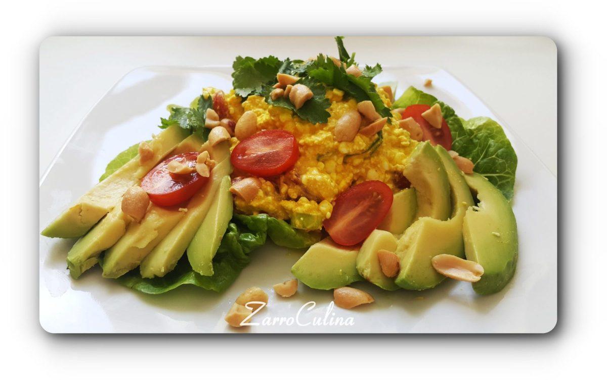 Körniger Frischkäse Salat orientalisch