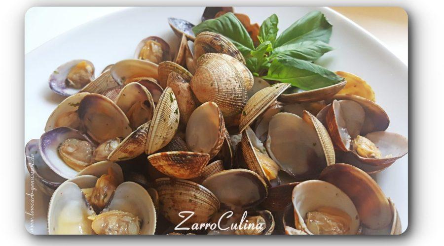 Muscheln in Weißweinsud italienisch - titlle