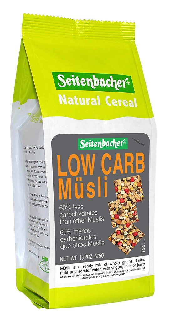 81lZucaMn L. SL1500  - Seitenbacher Low Carb Strawberry & Chocolate Musli, 13.2 Ounce