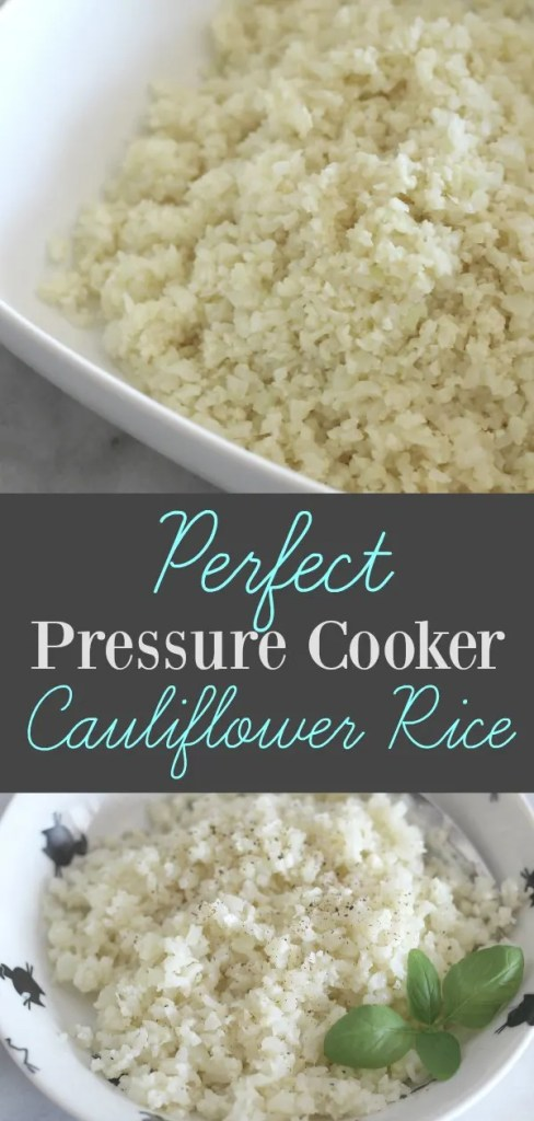 Make your low carb sides amazing every time with this recipe for perfect pressure cooker cauliflower rice!