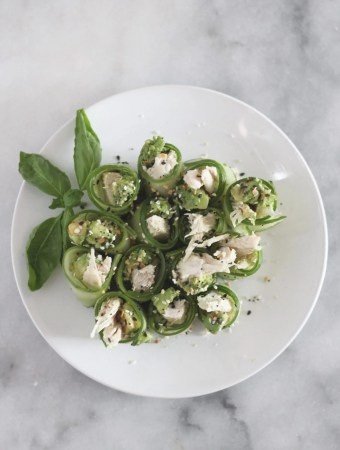 chicken avocado cucumber roll lowcarb keto