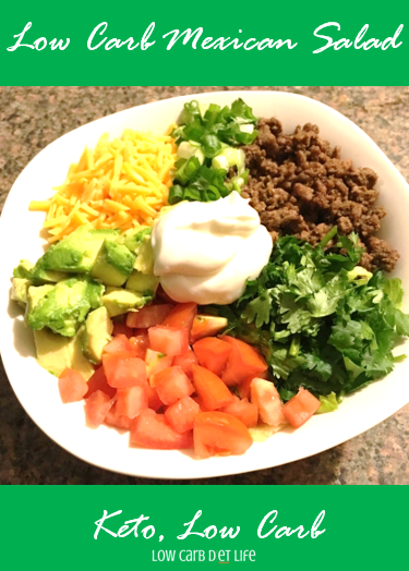 Low Carb Mexican Salad