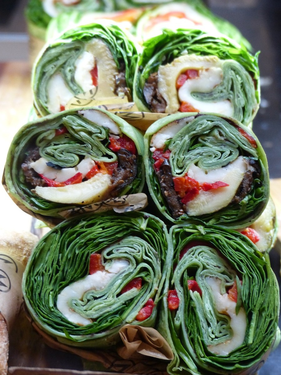 low carb spinach wrap