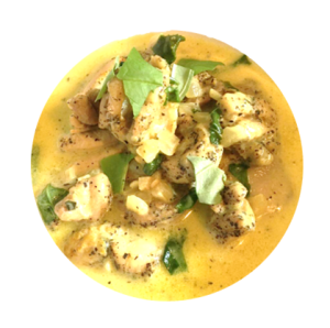 basil chicken coconut curry
