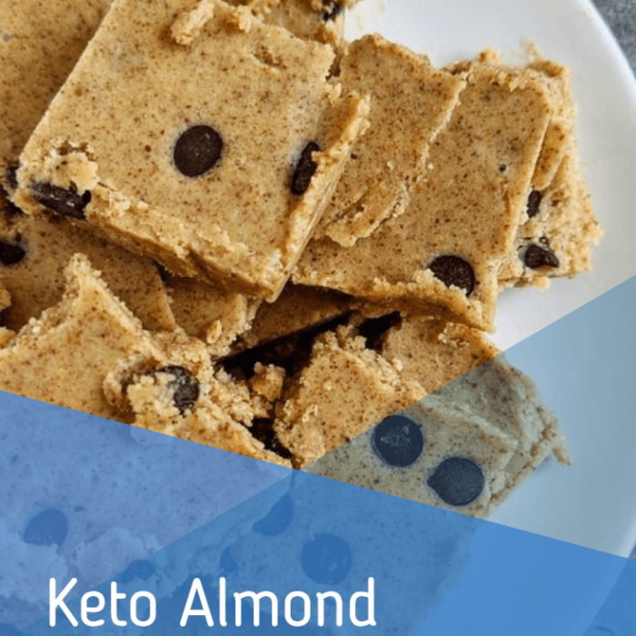 Keto Almond butter cookie bars