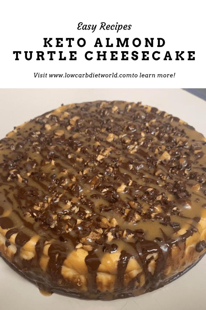 Keto Almond Turtle Cheesecake