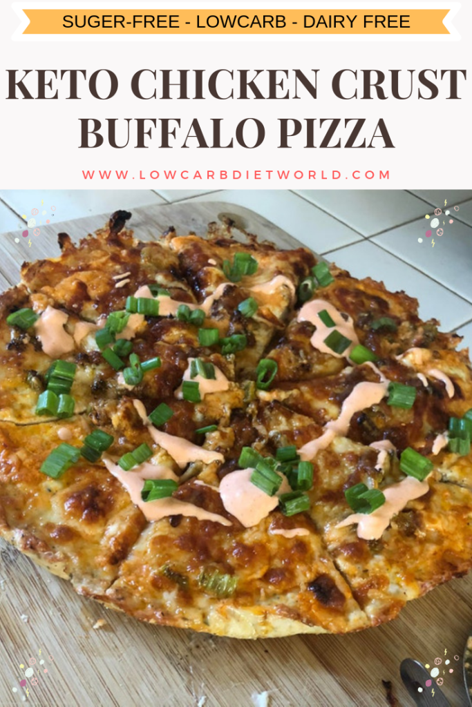 Keto Chicken Crust Buffalo Pizza