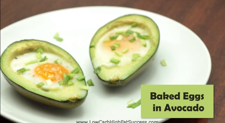 Baked Eggs in Avocado Low Carb Ketogenic Diet Recipe