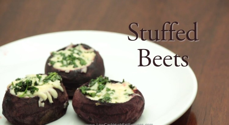 Stuffed Beets Low Carb Ketogenic Diet Recipe