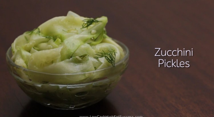 Zucchini Pickles Low Carb Ketogenic Diet Recipe