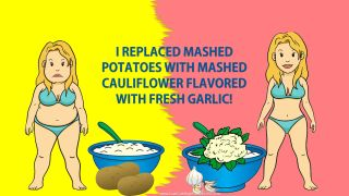 low carb lifestyle - mashed cauliflower instead of mashed potatoes