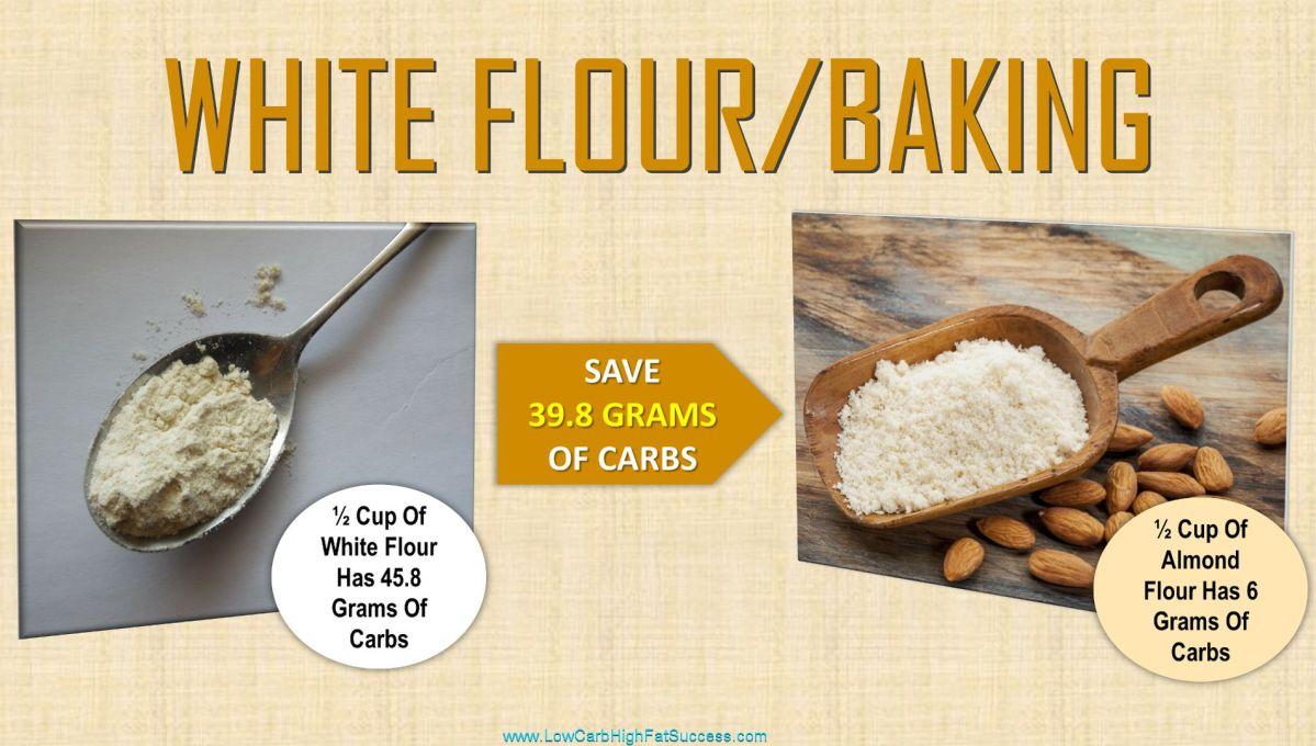low carb swap for white flour baking