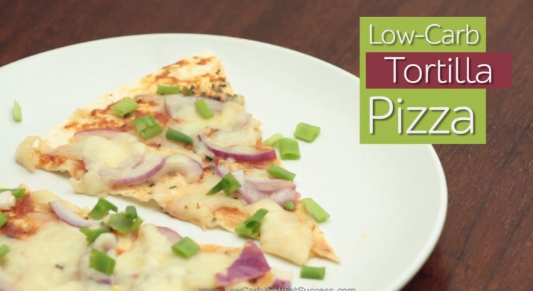 Low carb Tortilla Pizza Ketogenic Diet Recipe