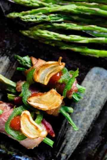 keto Bacon Wrapped Asparagus cover