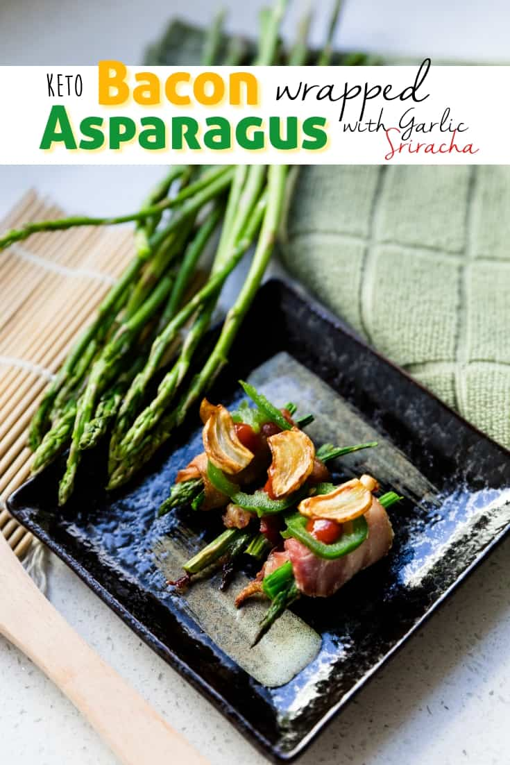 keto Bacon Wrapped Asparagus pin 1