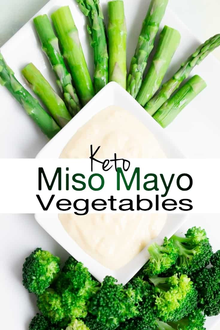 keto low carb Miso Mayo Vegetables pin 2